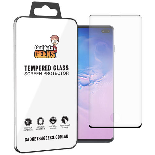 Case Ready 3D Tempered Glass Screen Protector for Samsung Galaxy S10+